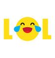 funny lol emoji vector image