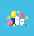 funny tablets characters vector image vector image