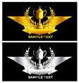 gold and silver vintage emblem vector image vector image