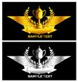 Gold and silver vintage emblem