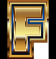 Golden Font Letter F vector image