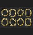 golden glass frames vector image