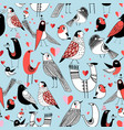 graphic seamless pattern of funny pictures vector image
