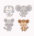 group of cute animals vector image vector image