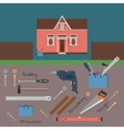 Hand tools for home renovation and construction vector image vector image