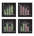 Handdrawn set of infographic elements vector image vector image