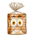 Happy face on bread vector image