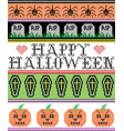 happy halloween with spider coffin grave pattern vector image vector image