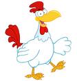 Happy Rooster Walking vector image vector image