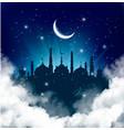 islamic greeting eid mubarak card for muslim vector image
