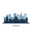 jackson skyline monochrome silhouette vector image vector image