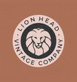 lion head vintage logo icon vector image vector image