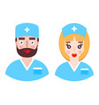 man and woman doctors vector image