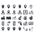 map pointer icons gps location symbol vector image