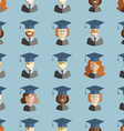 Men and Women Students Graduates Seamless vector image vector image