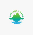 national park logo vector image