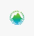 national park logo vector image vector image