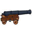 naval cannon view side vector image