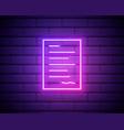 neon lights autograph vivid signature vector image vector image
