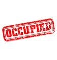 Occupied rubber stamp vector image vector image