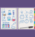 open notebook with learning symbol vector image vector image