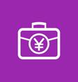 portfolio icon with yuan symbol vector image vector image