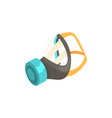 respirator protective equipment cartoon vector image vector image