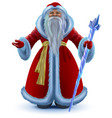 russian santa claus cartoon isolated on vector image vector image