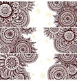 set beautiful vintage ornate banners vector image vector image