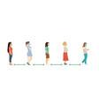 social distance full length cartoon sick women vector image vector image