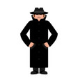 spy in hat and coat isolated secret agent in vector image