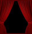 stage opened red curtain vector image vector image