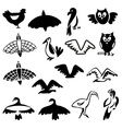 stylized birds vector image vector image