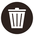 trash bin button vector image vector image