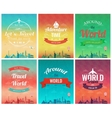Travel brochure with world landmarks Template of vector image vector image