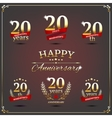 Twenty years anniversary signs collection vector image vector image