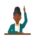Woman raising her hand vector image vector image