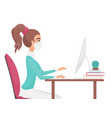 work at home during covid-19 quarantine virus vector image vector image