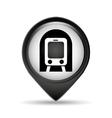 symbol metro train pin map icon vector image