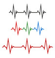 a set of the cardiograms of the heart vector image vector image