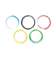 Abstract Colorful Rings vector image