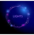 Abstract light circles background vector image vector image
