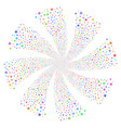 airplane fireworks swirl rotation vector image vector image