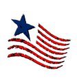 American wave flag symbol Independence Day vector image