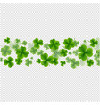 background st patricks day card transparent vector image vector image