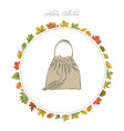bag hand draw accessories autumn collection frame vector image