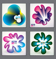 beautiful flower shapes with colorful gradients vector image