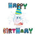beautiful wish happy birthday for any person vector image vector image