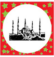 black 8-bit the blue mosque sultanahmet camii vector image vector image