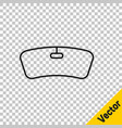 black line windshield icon isolated on transparent vector image vector image
